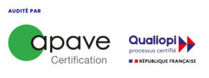 Logo Certification Qualiopi apave 2021